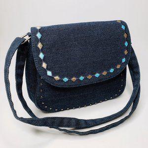 Canyon Sky Diamond Sewn and Studded Crossbody Bag